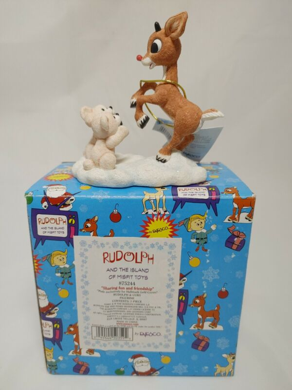 """Enesco Rudolph & The Island Of Misfit Toys """"Sharing Fun And Friendship"""" #875244"""