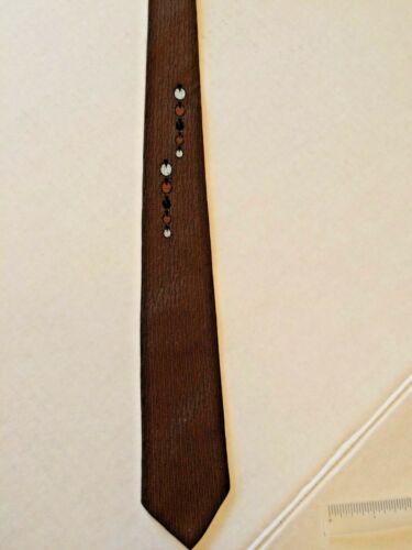 """1960s Necktie Skinny Rockabilly Tie 3"""" Wide Vintage 1950s 60s  atomic Scotchgard"""