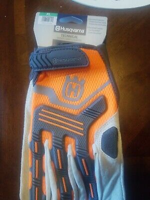 Husqvarna Chainsaw Heavy Duty Technical Gloves w/ Knuckle Protection - -