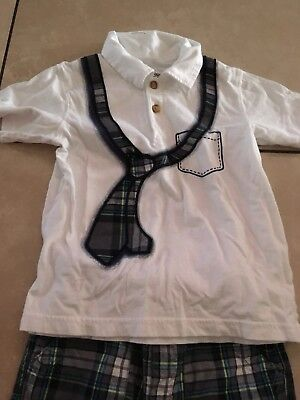 The Children's Place Boys Outfit shirt size 4T & shorts are 3T in GUC