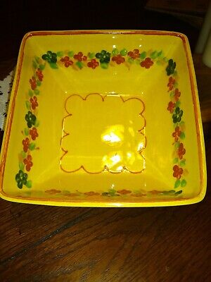 Terre Provence made in France square vegetable bowl. 6 3/4