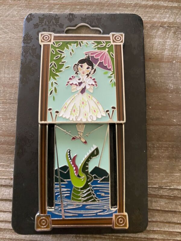 Disney Haunted Mansion Tightrope Girl Stretching Portrait Sliding Pin LE