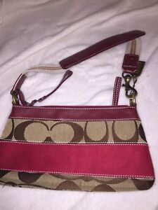 Red authentic coach purse clutch