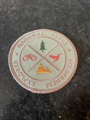 "US National Parks Iron On Patch Logo Rare 3"" Vtg Wilderness Explorer NPS Hat"