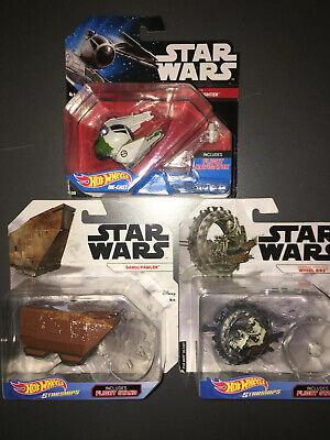 STAR WARS HOT WHEELS STARSHIPS. Yodas Star fighter. General Grievous Wheel Bike