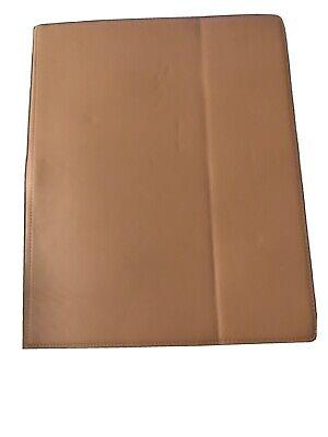 Levenger Brown Leather- I-pad Holder-freeleaf Lined Note Pad-pen Slot-never Used