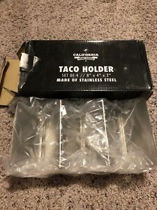 Taco holder stainless steel set of 4 new