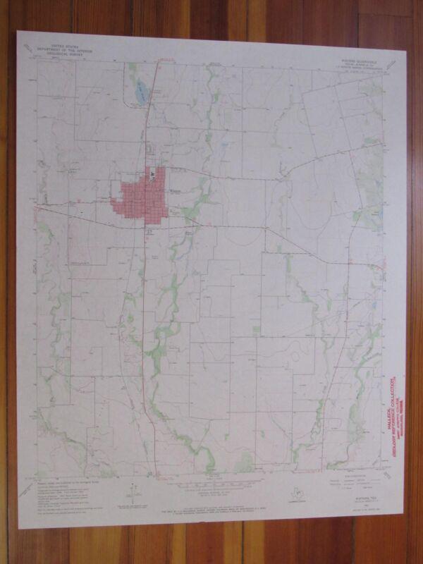 Winters Texas 1970 Original Vintage USGS Topo Map