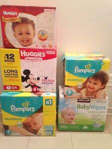 Baby diapers and wipes for sale!!!