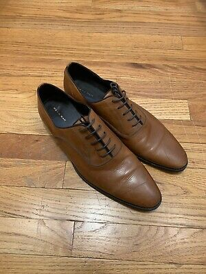 Mens Zara Dress Shoes Size 11 US 44 EU Burnt Orange