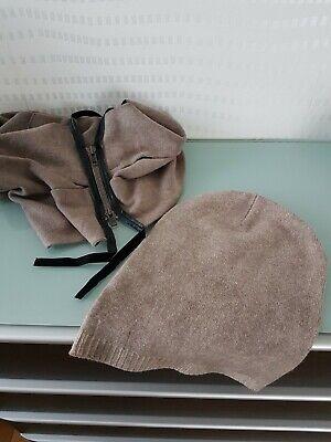 LIEBESKIND BERLIN SET - Schal Loop mit passender Mütze Beanie braun Wollgemisch gebraucht kaufen  Beckum