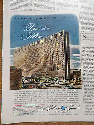 1960 Hilton Hotels Ad  The Denver Hilton