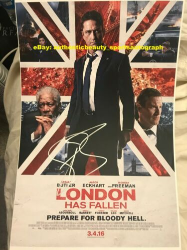 GERARD BUTLER LONDON HAS FALLEN MIKE BANNING MOVIE POSTER SIGNED 12x18 REPRINT R