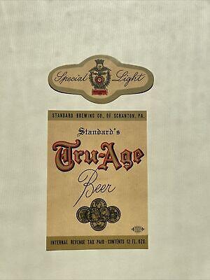 Standard Beer Labels Standard Brewing Co Scranton Pa