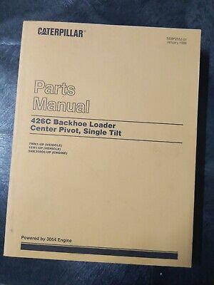 Cat Caterpillar 426c Backhoe Loader Center Pivot Single Tilt Parts Manual