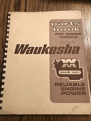 Waukesha Parts Book For Engine Models 1616 G