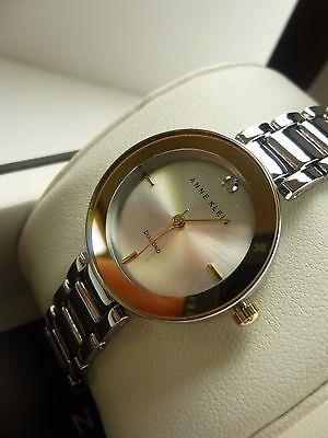 Anne Klein Ak 2119Svtt Diamond 2 Tone Gold Silver Bracelet Womens Watch