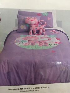 Purple cat twin bedding