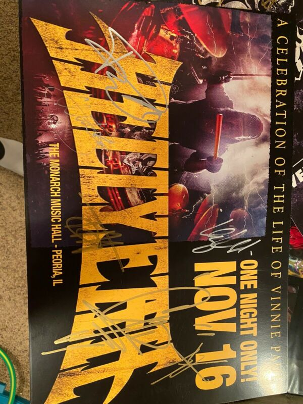 Hellyeah Signed Poster. With Roy(stonesour )
