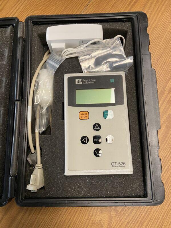 Met One Gt-526 6-Ch 0.1 Cfm Digital Indoor Handheld Air Particle Counter/Meter