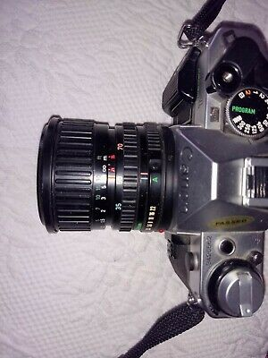 MINT Canon AE-1 PROGRAM SLR Camera with 35-70 mm ZOOM F3.5 - F4.5 Lens w strap