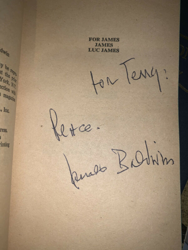 SIGNED James Baldwin The Fire Next Time