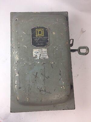 Square D D-96354 Fusible Disconnect Switch 200 Amp 240 Vac 3ph