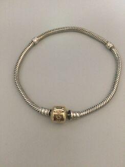 Pandora 20cm two tone bracelet