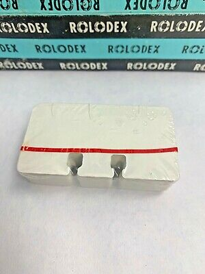 100 White Rolodex Brand C12 Refill Cards 100 Sealed 1 12 X 2 34 Vintage