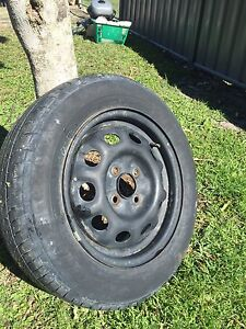 4X100 spare wheel. Ford laser. Sandy Beach Coffs Harbour Area Preview