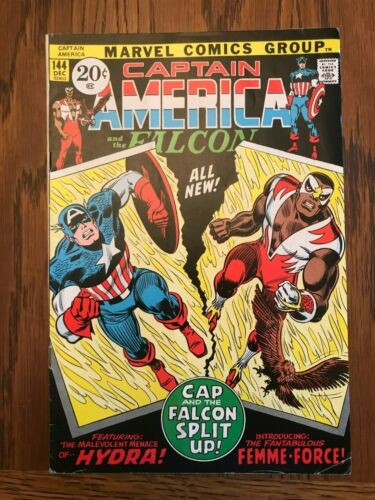 Captain America #144 (1971) - 1st Appearance of Falcon