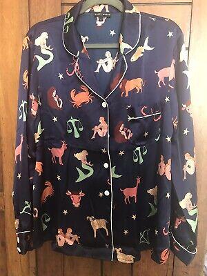 Karen Mabon Zodiac Silk Pyjama Shirt L Anthropologie