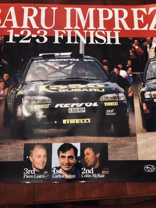 The 555 Subaru World Rally team poster Vintage Original