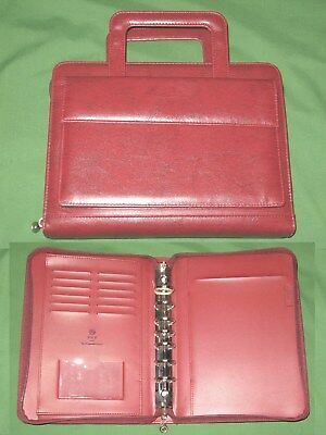 Classic 1.0 Handles Red Faux-leather Franklin Covey 365 Planner Binder 4148