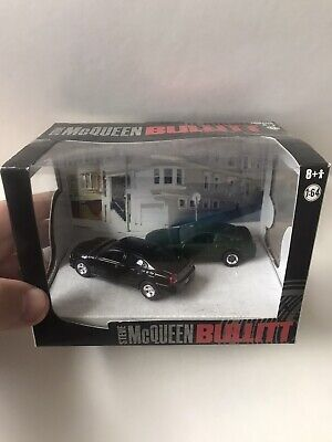 GreenLight Steve McQueen Bullitt Diorama #56050 New  2011 Black & Green 1:64
