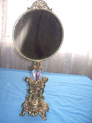 """Vintage Vanity Pedestal Dresser / Table Mirror   """"Beautiful"""""""