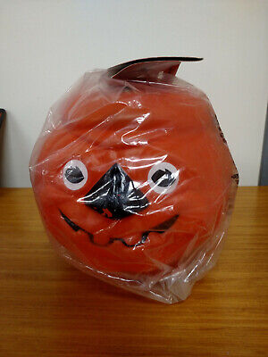 Vintage Sealed Herbie The Safety Pumpkin Halloween Blow Mold Bucket Light](Vintage Halloween Safety)