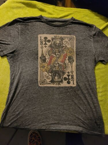 BURNOUT PAPER THIN VINTAGE XL PLAYING CARD TEE SHIRT HIPSTER MOD SOFT