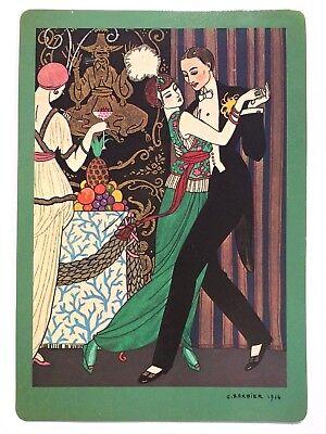 Vintage George Barbier La Danse Verkerke  Litho Card Holland  size 5 3/4 x 8 3/8