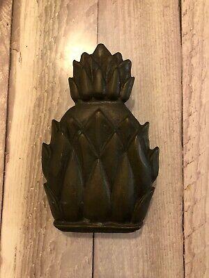 Vintage Solid Brass Pineapple Shaped Door Knocker 3.5 X 6 Made In England Pineapple Brass Door Knocker