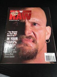 WWF WWE RAW Magazine SEPTEMBER / OCTOBER 1997 Steve Austin Cover