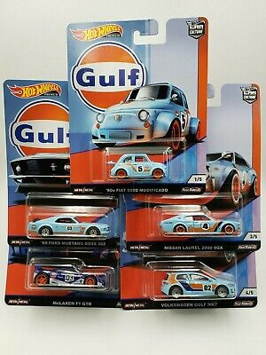 Hot Wheels Premium Car Culture - Gulf - Complete set of 5 cars - 1/64th