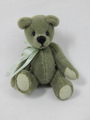 "World of Miniature Bears 2.5"" Plush Bear Olive #337 Collectible Miniature Bear"