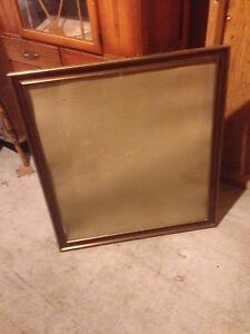 Large frame and glass