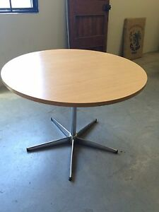 Round / wooden / metal / office / table North Strathfield Canada Bay Area Preview