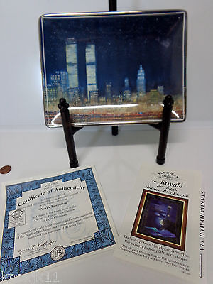 "NEW 2002 Never Forgotten 8"" PLATE New York City World Trade Center 911 Ellenshaw"