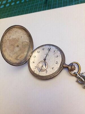 Orologio da tasca in argento Omega Grand Prix Paris 1900