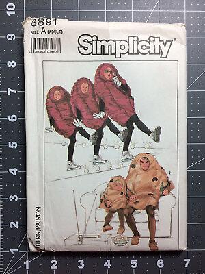 Simplicity #8891 ~ Costume Pattern Raisin & Potato Outfit ~ Adult 30 - 48 FF UC - Baby Potato Costume