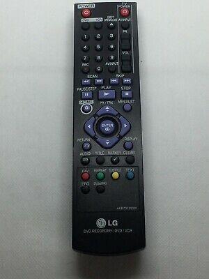 LG DVD REKORDER DVD/VCR  AKB73155301 FERNBEDIENUNG REMOTE CONTROL DAS ORIGINAL  segunda mano  Embacar hacia Spain