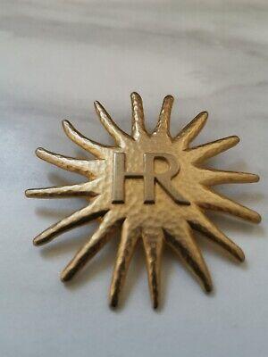 Vintage Helena rubinstein perfume Parfum Pin Badge Brooch Gold Accen